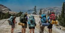 Hiking Yosemite / Yosemite National Park is best explored by foot - hiking, backpacking or camping. #backpacking #camping