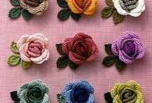 örgü çiçekler / örgü çiçekler