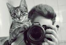 Ritratto col gatto / by gab