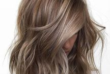 Ash brown Haircolor / Natural brown and blonde Haircolor