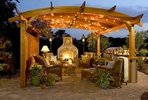 Pergolas / Pergolas are great way to create shape and texture in a landscape design. They are meant to create some shade, without blocking all sunlight out. www.SharperCut.com