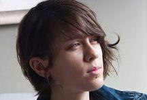 Tegan Rain Quin / Tegan Rain Quin. Twin of Sara Quin. One half of music making electro pop Canadians Tegan and Sara.  / by K C