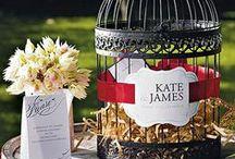 Wedding Reception Accessories / Elegant wedding reception accessories for the bride and grooms special day.