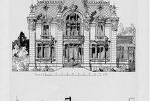 Old Architecture / Estilos arquitectónicos, planos, vistas, detalles