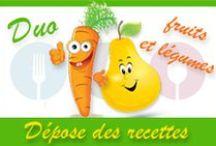 Duo fruits et légumes ... le défi du mois d'Août / Défi du mois d'Août 2015