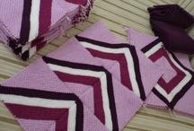 Knitting my New Purple Blanket