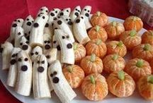 Trick or Eat - Happy Halloween! / Fun ideas using fruits and vegetables for Halloween