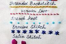 costurero · bordados · estampados / · hilos · tijeras · agujas · alfileres · dedal · telas