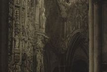 cathedral, church, castle ruin / Man builds a Cathedrall the better to hear him selfe. — Christopher Wren