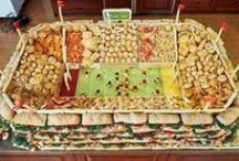 Football or Superbowl Party Ideas / Fun ways to present fruits and vegetables for a Football or Superbowl party!