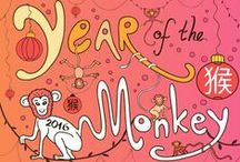 Chinese New Year / Chinese New Year activities for kids, including Chinese New Year colouring pages, printables, worksheets, games and crafts. / by www.ActivityVillage.co.uk