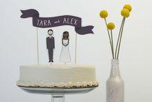 ケーキ / 主にケーキトッパーのアイデア