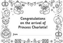 Royal Family and Royal Baby Fun / Activities and resources for children on the British Royal Family, including colouring pages, printables, learn to draw, puzzles and lots more. New Princess Charlotte activities too! / by www.ActivityVillage.co.uk