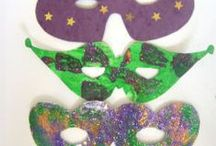 Mardi Gras for Kids / Mardi Gras colouring pages, crafts, puzzles and more printable fun for children of all ages.