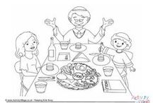 Passover Activities for Kids / Passover crafts, Passover worksheets, Passover puzzles and Passover colouring pages for kids. / by www.ActivityVillage.co.uk