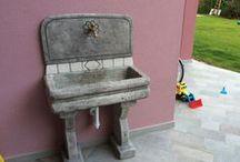Realizzazioni fontane a muro e lavelli / Foto delle ns fontane a muro e lavelli che i ns clienti ci hanno inviato dopo averli poosizionati nei loro giardini.