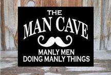 The Man Cave / Clever decorating and design ideas that would impress even the blokiest of blokes. And of course giant, man-sized bean bags. #ManCave #lads
