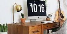 ❤  ESCRITORIOS ❤ / Ideas para la decoración en el escritorio muy bonitas.