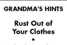 Grandma's Helpful Hints
