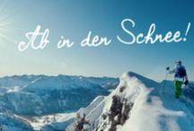 Winterurlaub / Ab in den Schnee! Ski fahren, Langlauf, Schneeschuhwandern, Rodeln oder einfach nur Spazieren gehen im Schnee gehören schließlich zum Schönsten im Winter.