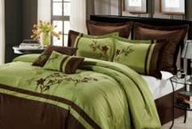 Green and Brown Bedding / Use the colors of green and brown bedding to create a soothing room you can dream the night away. / by Duvet Divas