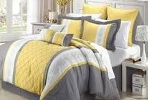 Yellow and Gray Bedding / These yellow and gray bedding sets showcases a perfect updated, modern design in your bedroom. / by Duvet Divas