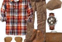 Mens Wear / Mens casual wear with style and comfort. It only takes a few items to power up your wardrobe. With nostaligic interest; a comfortable cotton sweater, a pair of stylish sunglasses, a thick leather belt, a pair of pre-aged oxfords or boots, and don't forget that durable waxed cotton/leather bag.
