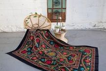 Vintage Suzani Throws / Handmade vintage embroidered Suzani throws