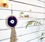 "Evil Eye Protector Amulets / Evil eye amulet known as 'Nazar boncugu"" in Turkish is an eye-shaped amulet believed to protect against evil eye. They look great as a wall hanging decoration while they protect you and your homes!"