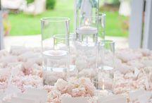 Wedding Inspiration / Est. May 2015  //  Blush pink, nude champagne, spring florals, white tent, & garden lanterns.  / by Katie Schubert