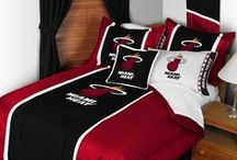 Miami Heat Merchandise, Bedding, Decor & Gifts / Miami Heat Merchandise is an incredible way to decorate your home & office to create your own Heat fan zone in your bedroom, kid's bedroom, game room, study, kitchen, living room, and even the bathroom. Also great as Miami Heat fan gifts. Show off your Heat team spirit today!