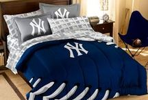 NY Yankees Merchandise, Bedding, Decor & Gifts / NY Yankees Merchandise & Bedding is a perfect way to decorate your home & office to create your own Yankees fan zone in your bedroom, kid's bedroom, game room, study, kitchen, living room, and even the bathroom. Also splendid as NY Yankees fan gifts. Show off your Yankees team spirit today!