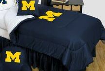 Michigan Wolverines Merchandise, Bedding, Decor & Gifts / Michigan Wolverines Merchandise is a gorgeous  way to decorate your home & office to create your own Wolverines fan zone in your bedroom, kid's bedroom, game room, study, kitchen, living room, and even the bathroom. Also perfect as Michigan Wolverines fan gifts. Show off your Wolverines team spirit today!