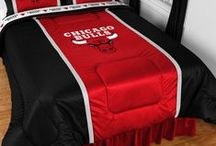 Chicago Bulls Merchandise, Bedding, Decor & Gifts / Chicago Bulls Merchandise is an incredible way to decorate your home & office to create your own Bulls fan zone in your bedroom, kid's bedroom, game room, study, kitchen, living room, and even the bathroom. Also perfect as Chicago Bulls  fan gifts. Show off your Bulls team pride today