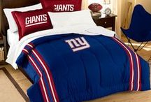 New York Giants Merchandise, Bedding, Decor & Gifts / New York Giants Merchandise is an awesome way to decorate your home & office to create your own Giants fan zone in your bedroom, kid's bedroom, game room, study, kitchen, living room, and even the bathroom. Also magnificent as New York Giants fan gifts. Giants Nation - Show off your team spirit today!