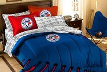 Toronto Blue Jays Merchandise, Bedding, Decor & Gifts / Toronto Blue Jays Merchandise is an awesome way to decorate your home & office to create your own Jays fan zone in your bedroom, kid's bedroom, game room, study, kitchen, living room, and even the bathroom. Also magnificent as Toronto Blue Jays fan gifts. Jays Fans - Show off your team spirit today! Support your AL East Champions!