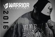 PORTFOLIO // WARRIOR INTERNATIONAL / 2015 | Logo Update + 7 new Apparel Graphics + 3 Re-Created Shirts Graphics + Edited Photos and Photo Recreation + New Layout Styling + Screen Print Spec Sheets + Catalog Design