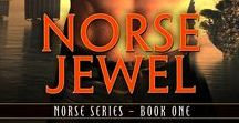 Norse Jewel, Norse World Bk 1 / Viking romance set in AD 1022.  Helena, a stolen woman, wants her freedom.  Hakan, a hard Norse chieftain, wants to lay down his sword. Their love grows in the icy north...but can it survive a kingdom in turmoil?