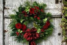 Wreaths: What to do! /  The use of evergreens for Christmas wreaths and other decorations probably arose in northern Europe, Italy and Spain in the early 19th century.  The traditional colors of Christmas are green and red.  Green represents the continuance of life through the winter and the Christian belief in eternal life through Christ.  Red symbolizes the blood that Jesus shed at his crucifixion.