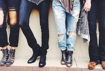 Inspiring styles&outfits / Black, denim, leather, chic and edgy