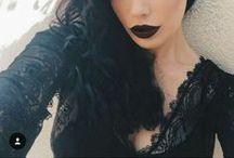The Darker The Better. / Dark lips