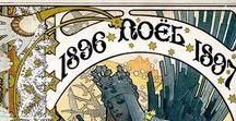 Christmas & New Year Art Nouveau Ilustrations