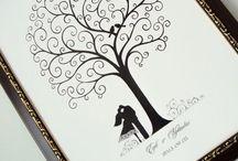 Wedding Trees. Pictures for Guests Fingerprints | Vestuvių medžiai. Paveikslai svečių pirštų antspaudams ir palinkėjimams / Shipping all over the world! Visit our e-shop: www.ijk.lt