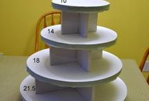 Cake/Cupcake Display...Wraps/Stands/Etc.