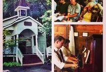 Robert F. Thomas Chapel at Dollywood / Antique Piano Shop restored and donated a 1901 Lester Victorian Upright Piano to the Robert R. Thomas Chapel at Dollywood. / by Antique Piano