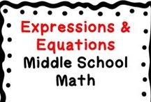 Expressions & Equations Domain: Middle School (6-8) Math / This board contains middle school math resources related to the Expressions & Equations Domain.  These resources include teaching ideas, fun activities, blog posts, centers, games, teachers pay teachers products, free downloads, tips, middle school student resources, videos to accompany lessons, etc.  Only post pins related to the board title.  Collaborators: when pinning, scan the board & delete duplicates, & also surround product pins with ideas/free resources that apply (middle grades).