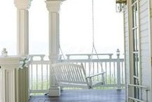 { A white Porch } / Sitting on the Porch: Not a Place, But a State of Mind.