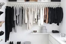 Decoração | Closet / Inspirações de decoração de armários e closets