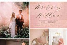 Wedding Trends 2017 / Colors. Themes. Inspiration Boards. Pantones. Invitations. Decor