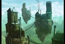 Fantasy / Werewolves, goblins, orcs, fantasy landscapes